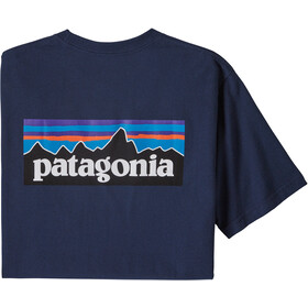 Patagonia P-6 Logo Pocket Camiseta Responsable Hombre, classic navy